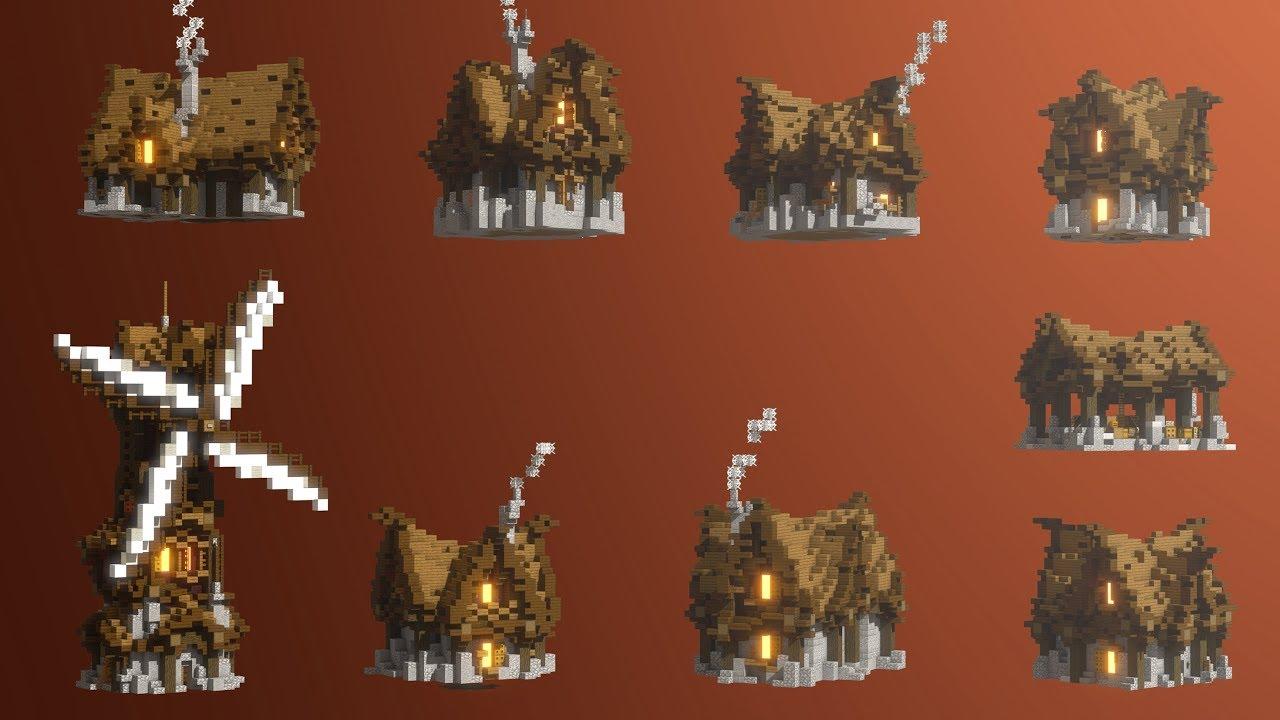 Medieval Houses Schematics Download By Builders Horizon