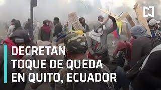 Ecuador en toque de queda tras violentos enfrentamientos - Las Noticias
