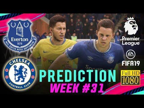 EVERTON vs CHELSEA   FIFA 19 EPL Predict Matchday 31   Broadcast Camera - 1080HD