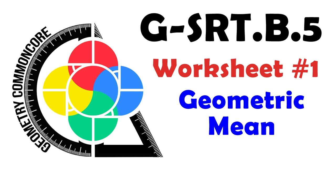 b5 worksheet 1 geometric mean youtube - Geometric Mean Worksheet