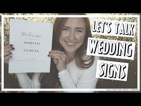 DIY WEDDING SIGNS THAT LOOK PROFESSIONAL | Moriah Robinson