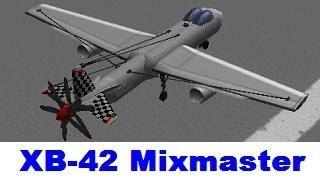 KSP XB-42 Mixmaster, prototype plane, Firespitter & B9 aerospace
