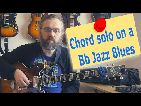 Bb Jazz Blues Chord Solo