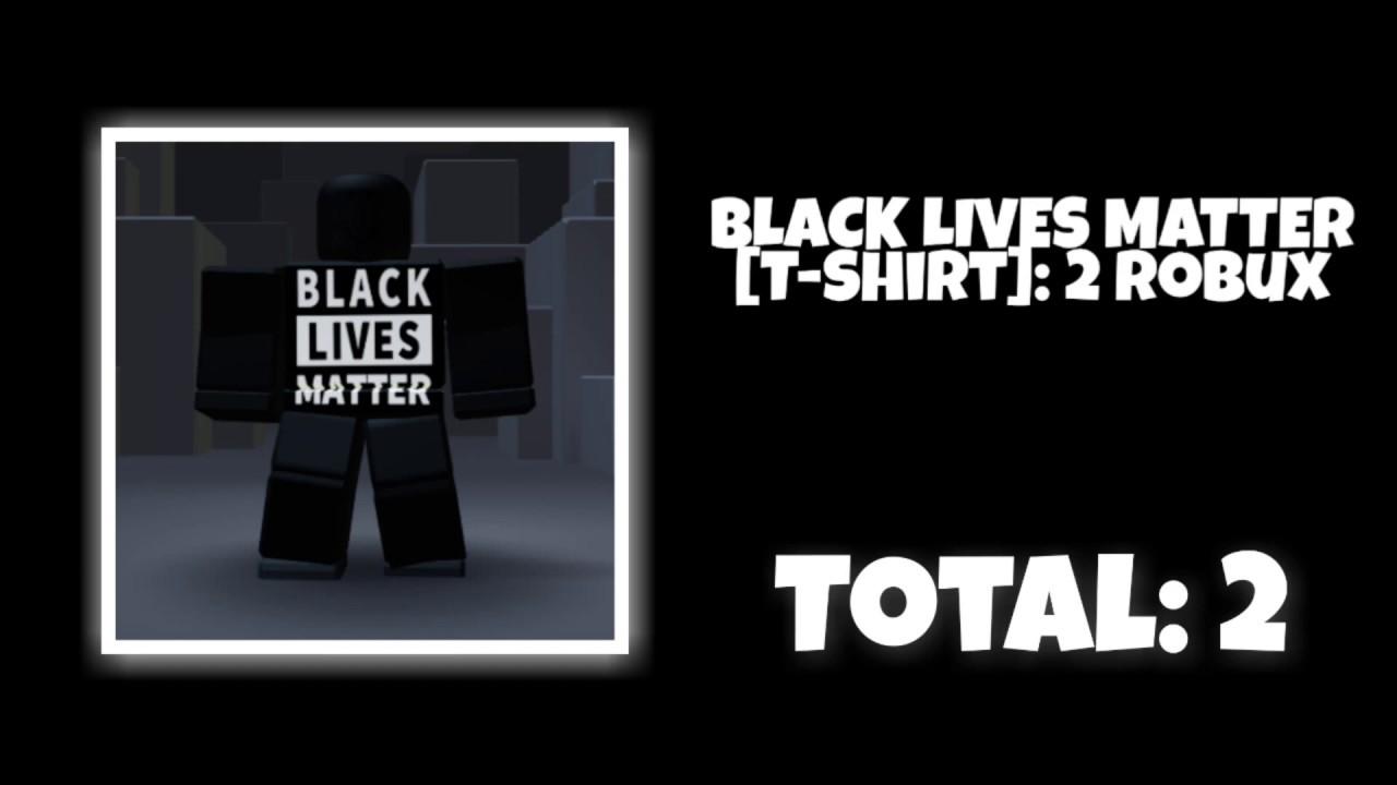 Black Lives Matter Roblox Outfits Blacklivesmatter Youtube