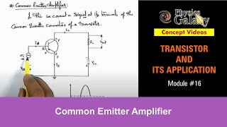 16. Class 12 Physics | Transistor And Its Application | Common Emitter Amplifier