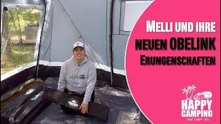 Melli baut ihr neues Vorzelt, Tisch und Stühle von Obelink auf | HAPPY CAMPING