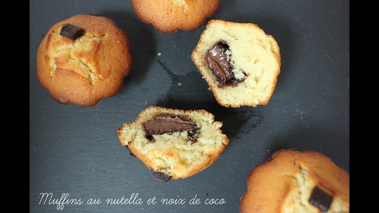 Muffins Au Nutella Et Noix De Coco La Cuisine De Monica YouTube - La cuisine de monica