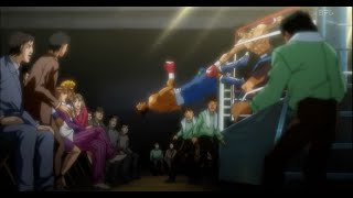 takamura knocks out morris west eng sub ring out hajime no ippo new challenger ep 16