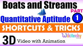 Boats and Streams 1 Aptitude interview questions papers and answers online videos lectures exams