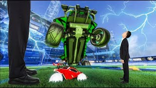 BIG VS SMALL CAR 2V2 BATTLE! | Modded Rocket League