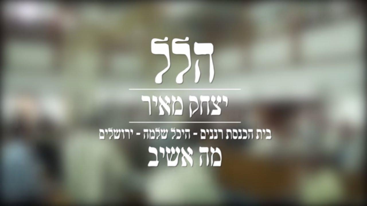 הלל עם יצחק מאיר // מה אשיב