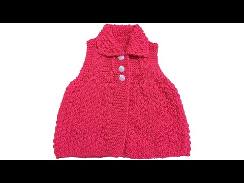 How to make a collar girl baby hen? (From the Beginning Narration) - knitted baby boots