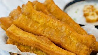 Chinese Donut Stick Crispy Youtiao Recipe (炸油条)
