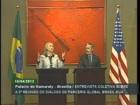 Entrevista coletiva de Hillary Clinton e Antonio Patriota no Itamaraty
