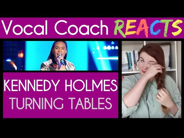 Vocal Coach Reacts (and gets emotional) to Kennedy Holmes Adele Turning Tables The Voice