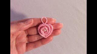 Сердечко крючком. Маленький кулон для детей
