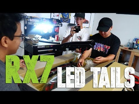 TJ Hunt's RX-7 gets Sequential LED Tail Lights!