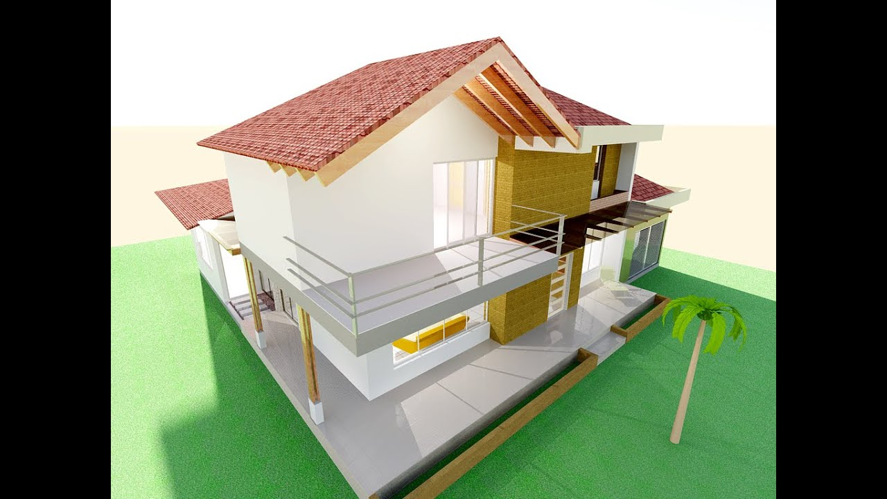 Planos casa campestre moderna techo a la vista listo - Jardines de casas pequenas ...