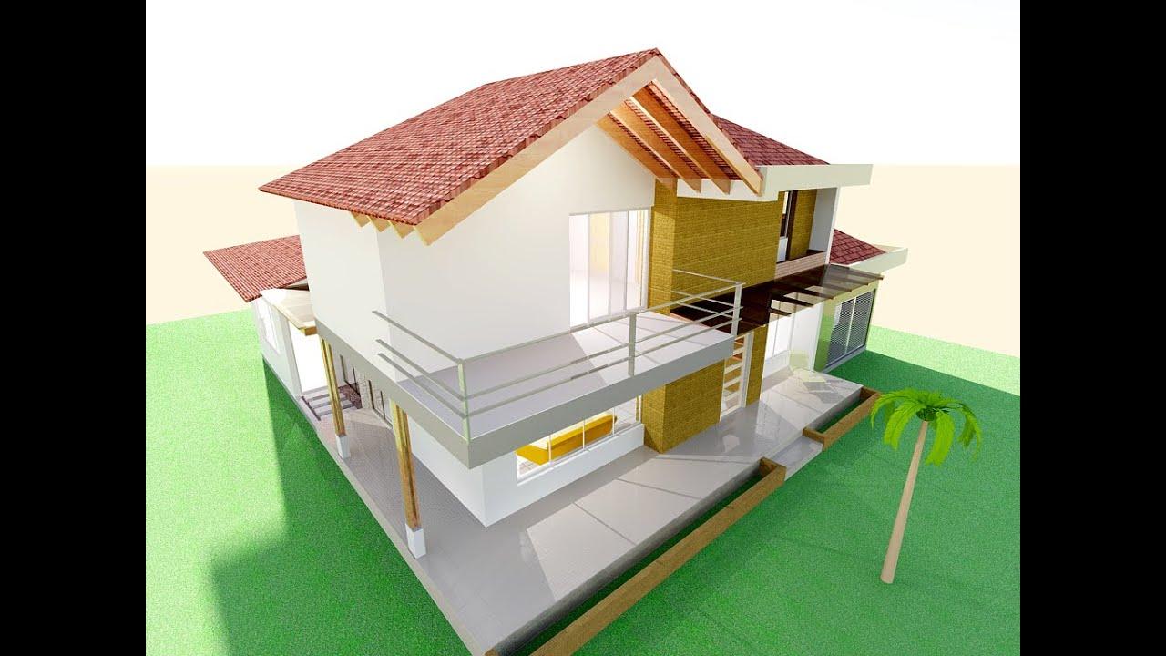 Planos casa campestre moderna techo a la vista listo - Diseno de pisos ...