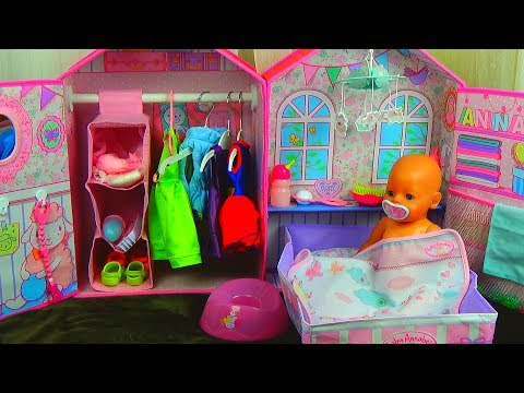 Thumbnail: КУКОЛЬНЫЙ ДОМИК Baby Doll House Toy playing Baby Annabell bedroom & Baby Born и Беби Бон