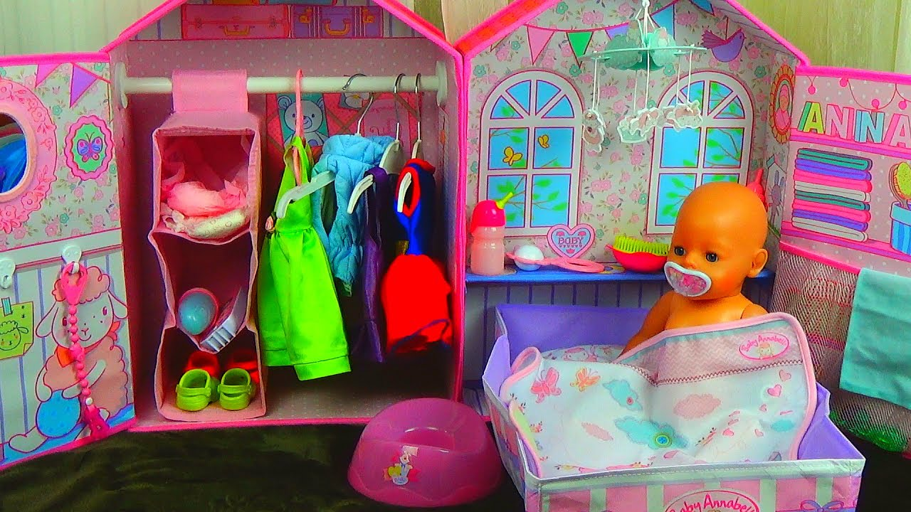 Baby Annabell Schlafzimmer КУКОЛЬНЫЙ ДОМИК Baby Doll House Toy Playing Baby Annabell Bedroom Baby Born и Беби Бон