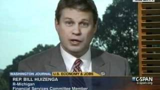 Huizenga Discusses Global Economy on C-SPAN's Washington Journal