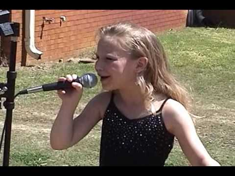 Talented child  singing Angels in Waiting by Tammy Cochran!