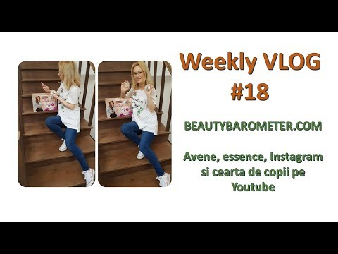 Weekly VLOG #18 | Avene, essence, Instagram si cearta de copii pe Youtube cu Selly