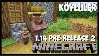 KÖYLER TAMAMEN DEĞİŞTİ -  MİNECRAFT 1.14 Pre-Release 2