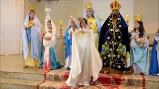 Coroação de Nossa Senhora 2017 Missa com Crianças Paróquia São Benedito Americana/SP