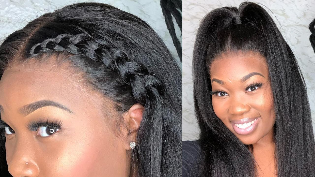 Installing Styling The Most Natural Looking Lace Frontal Wig Ft Rpghair Kinky Straight Hair Youtube
