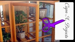 Repurposing Ideas (turn A Curio Cabinet Into A Plant Atrium On Wheels!) Part 1