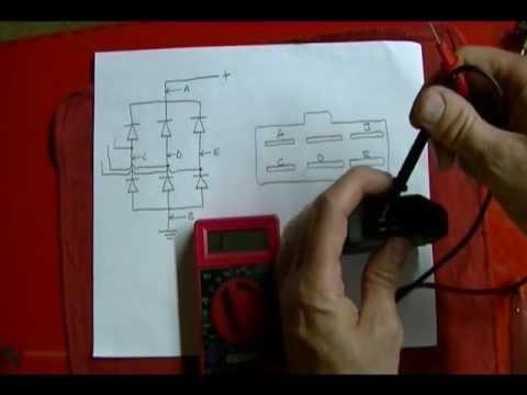 Honda Wiring Diagram Motorcycle Repair How To Check A 3 Phase Bridge Rectifier