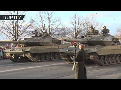 Military parade marks Latvian 100th Independence Day anniversary in Riga