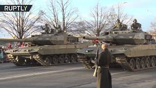 Military parade marks Latvian 100th Independence Day anniversary in Riga thumbnail