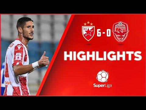 Crvena zvezda - Voždovac 6:0, highlights