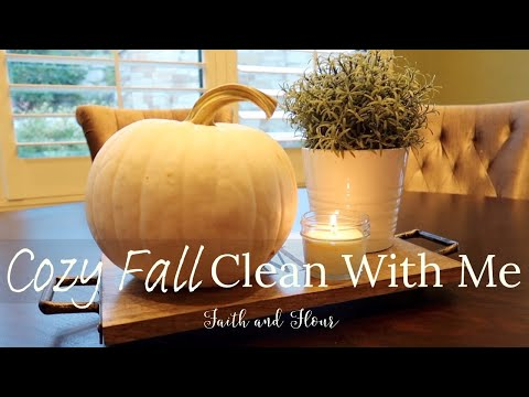 Cozy Fall Clean & Decorate With Me 2019 | Relaxing Cleaning Motivation