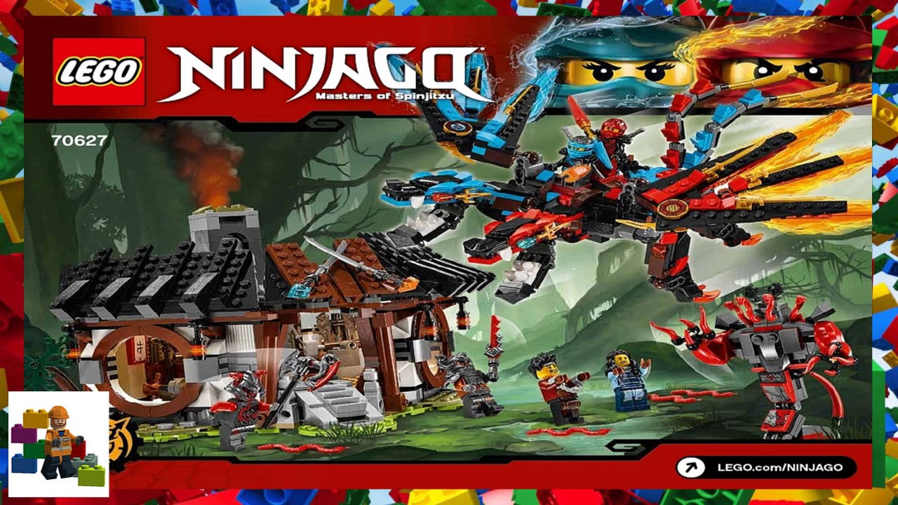 Lego instructions ninjago 70627 dragon 39 s forge youtube - Lego ninjago dragon a 4 tetes ...