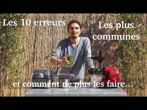 Les dix erreurs les plus  communes quand on fait des jus...et comment y remédier !  www.regenere.org