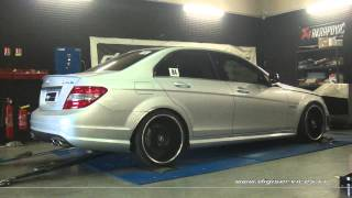 Reprogrammation Moteur Mercedes C 63 amg 457cv @ 473cv Digiservices Paris 77 Dyno