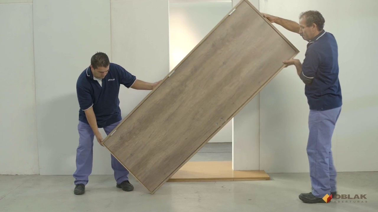 Oblak - Instalación de puerta interior - Marco de madera - En seco ...