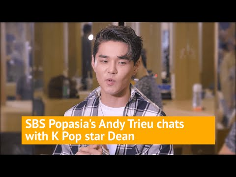 K-pop singer DEAN hanging backstage with Andy Trieu!