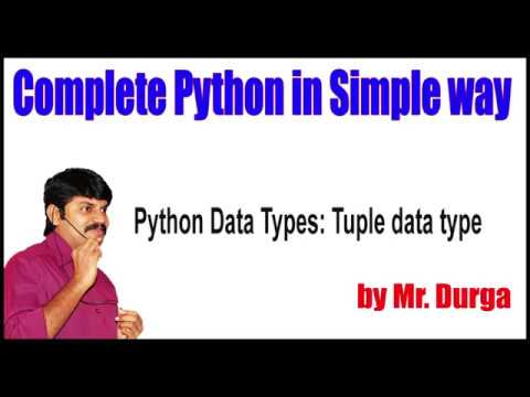 Fundamental Data Types ||  Python Data Types Tuple data type thumbnail