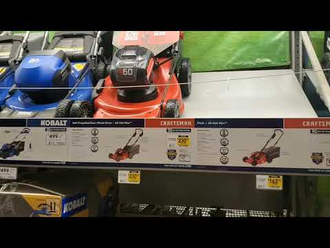 Lowe's Live !!! Craftsmen V60 Outdoor Power Equipment On Clearance !!
