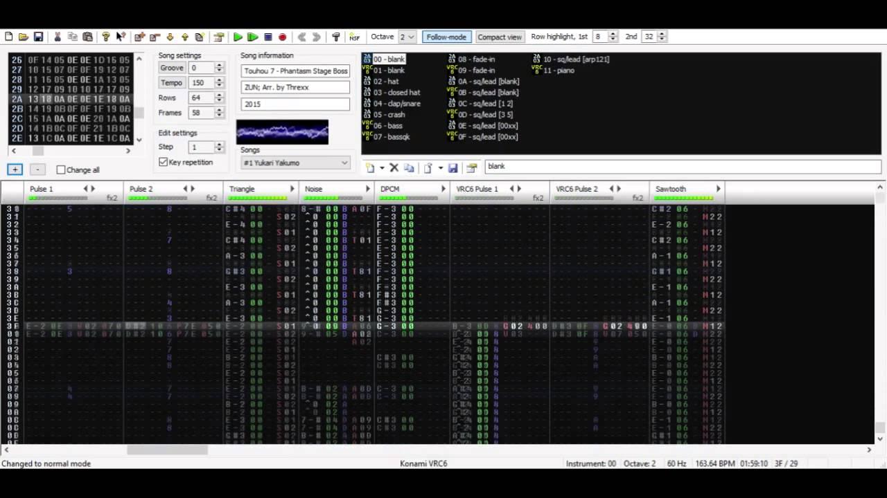 Necrofantasia - Touhou 7 [VRC6, 0CC-Famitracker]