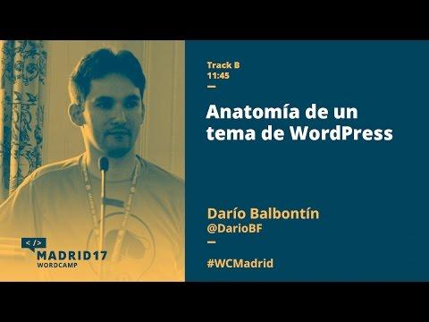 Anatomía de un tema de WordPress - Darío Balbontín - WordCamp Madrid ...
