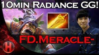 FD.Meracle- 10min Radiance GG Dota 2