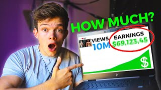 How Much Money YouTube Paid Me For My 10,000,000 Viewed Video