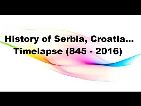 History of Serbia, Croatia, Montenegro, Bosnia... - Timelapse (845 - 2016)