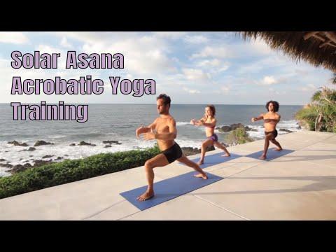 AcroYoga Solar Asana for intermediate/advance
